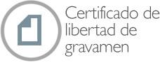 Certificado de libertad de gravámen