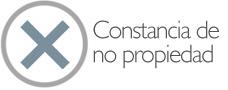 Constancia de No propiedad con firma electrónica certificada