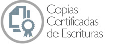 Copias certificadas de Escrituras